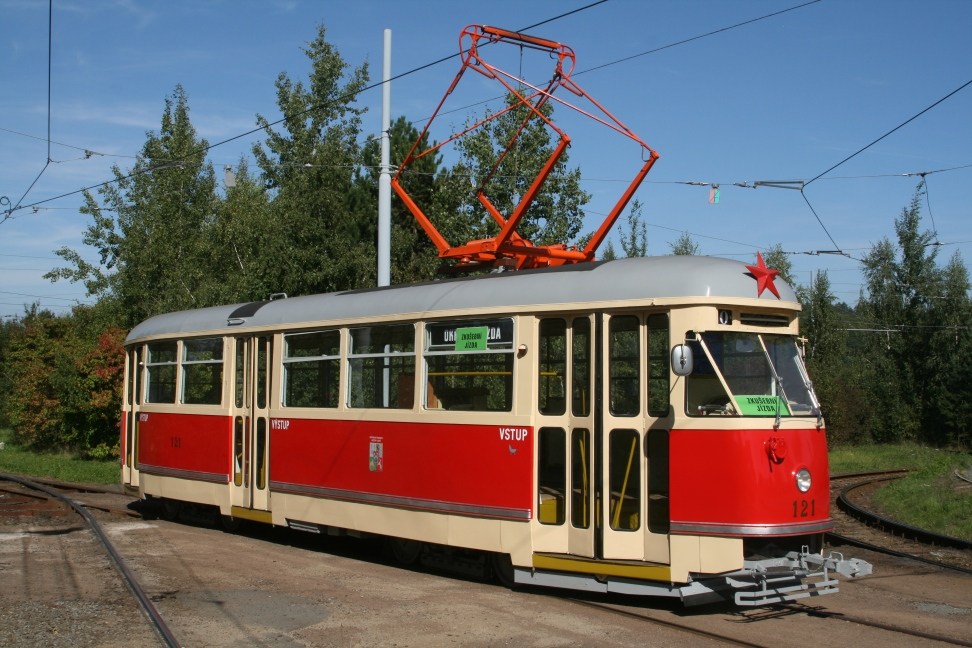 ČKD T1 Tram No. 121 from 1956